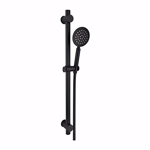Black SUS304 Stainless Metal Shower Sliding bar with Height Adjustable for Bathroom with Shower Head Bath tap Shower Set