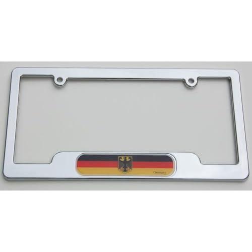 Car Chrome Decals LPFC077 German Chrome License Plate Frame Deutschland plate holder for cheap