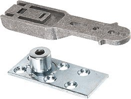 C.R. LAURENCE CRL8010BP CRL Complete Bottom Pivot with Plate for CRL Door Rail System