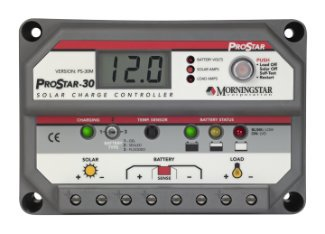 Morningstar ProStar 30-amp, 12-24-volt Solar PWM Charge Controller with Meter - PS-30M by Morningstar