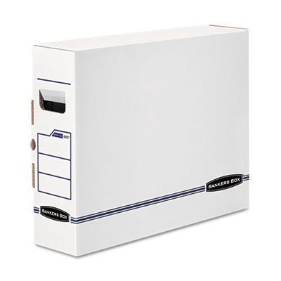 X-ray Bankers Box (X-Ray Storage Box, Film Jacket Size, 5 1/4 x 19 3/4 x 15 3/4, White/Blue, 6/CT, Sold as 2 Carton, 6 Each per Carton)