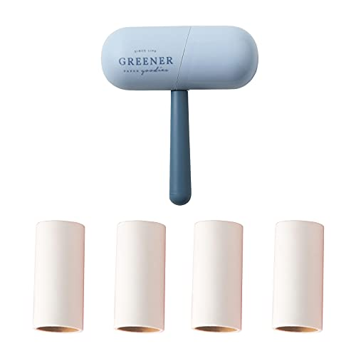 Sazfli Lint Rollers for Pet Hair, Sticky, Lint Remover for Couch, Clothes Furniture Carpet and Car, 4 Lint Roller Refills, Blue