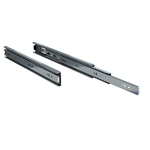 "TCH Hardware 2 x 16"" Inch 100 LB Steel Full Extension Ball Bearing Drawer Slides - Kitchen Cabinet Desk Draw"