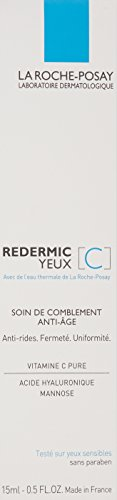 La Roche-Posay Redermic C Eyes Anti-Wrinkle Firming Eye Cream with Vitamin C and Hyaluronic Acid, 0.5 Fl. Oz.