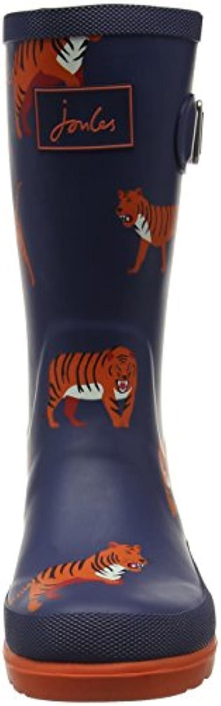 Joules Boys' V_Jnrboyswely Rain Boots, Blue (Navtigr), 8 Child UK 25 EU