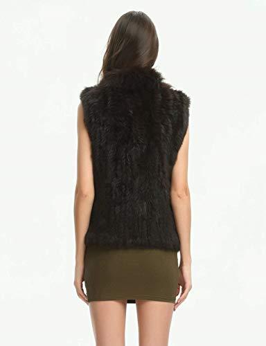 Asymétrique Femme Art Sans Fit Casual Blouson Vintage Fourrure Manteau De Slim Épaisseur Bonne Elégante Gilet Manches Dunkelbraun Hiver Warm Battercake Dame Mode Qualité RE6Tq8