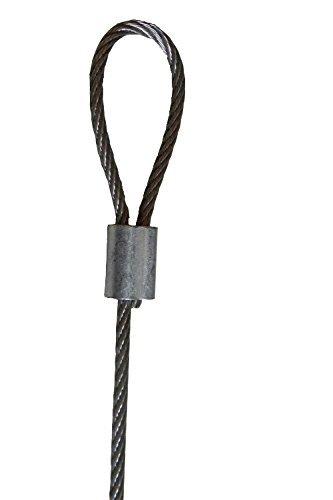 Accessbuy 100 조각 1 8 인치 와이어 로프 및 케이블에 대 한 알루..