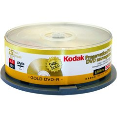 Gold Preservation 8x DVD-R Media by Kodak