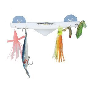 - Deep Blue LR-10 Portable No-Drill Acrylic Lure Rack, White