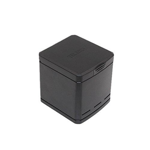 TELESIN Triple Cargador y Batería Caja de Almacenamiento para GoPro Hero 6Canales de Gopro Hero 5,3Carga de Baterías de...