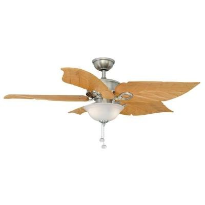 - Hampton Bay Costa Mesa 56 In. Brushed Nickel Ceiling Fan