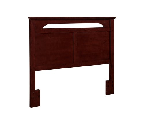 Dorel Living Queen or Full-Sized Headboard in Solid Wood in Cherry Finish - Cherry Wood Finish Bed