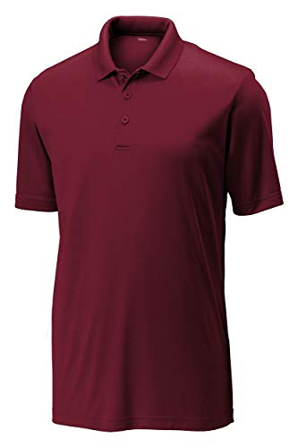 Opna Mens Dry-Fit Golf Polo Shirts,Maroon,Large