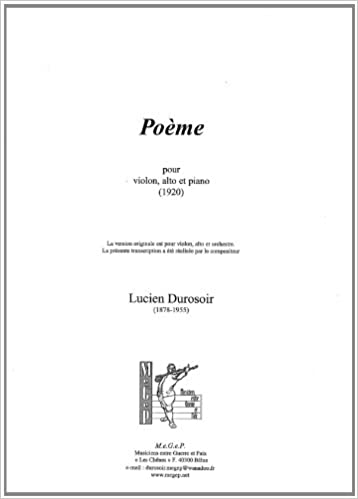 Poème Pour Violon Alto Et Piano Amazoncouk Lucien