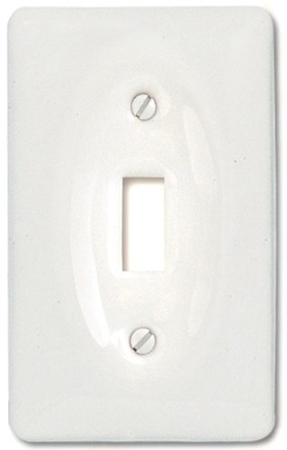 Amerelle 3020TW Classic Ceramic Toggle Wallplate, (White Toggle Switchplate)