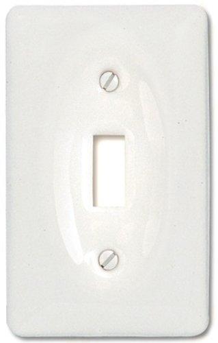 Amerelle 3020TW Classic Ceramic Toggle Wallplate, White