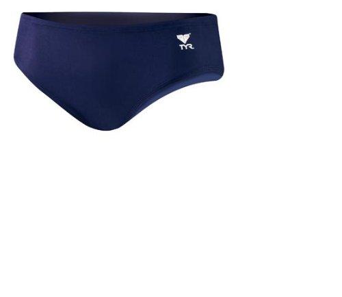 TYR Sport Boys' Solid Racer Swim Suit,Navy,24