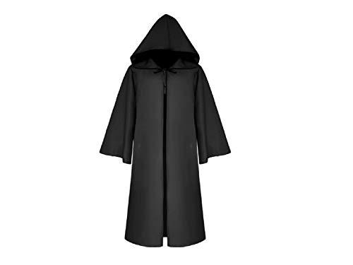 Yyanliii Divertente Costumi Natalizi Di Halloween Mantello Da Mantello Lungo Mantello Con Cappuccio Per I Bambini (Nero) (Colore : Black, Dimensione : Length 125Cm)