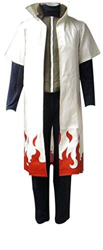 Mtxc Men's Naruto Cosplay Costume Yondaime Hokage 1st Size Small White