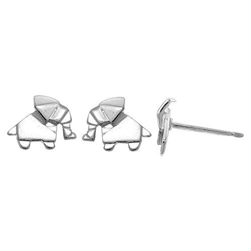Boma Sterling Origami Elephant Earrings