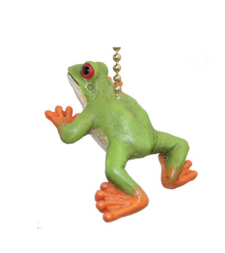 Green Tree Frog Fan Pull