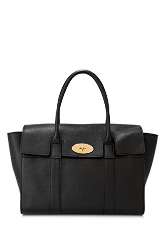 Mulberry Bags With Long Handles Shopping Woman In Black Leather New