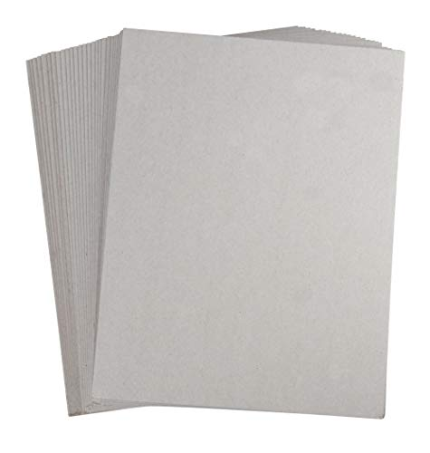 (Chipboard Sheets – 100-Pack Chip Boards, Cardboard Papers for Scrapbooking, Art and Craft, Grey, 8.5 x 11 Inches, 0.045 Inches Thickness)