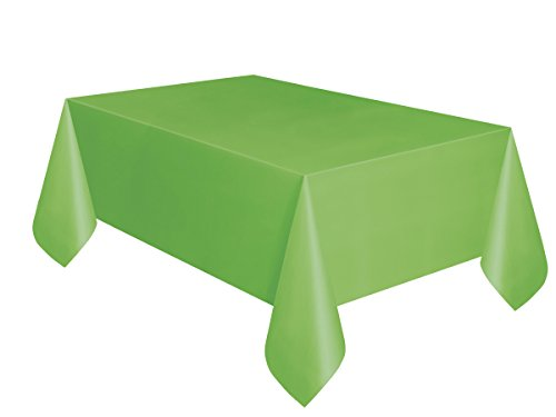 Unique Party - Mantel De Hule - 2,74 m x 1,37 m - Verde Lima (5098): Amazon.es: Juguetes y juegos
