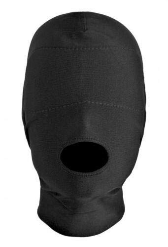 Open Mouth Hood Luxurious with Padded Blindfold by Bigus Bangs inc