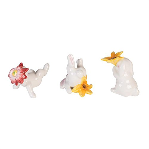 Fitz and Floyd Bunny Blooms Tumblers (Set of 3), White