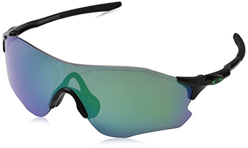 Oakley Men's Evzero Path Polarized Iridium Rectangular Sunglasses, Polished black, 38.01 ()