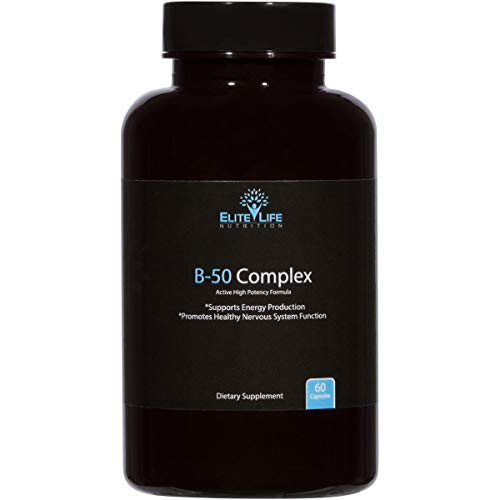 Super Active B Complex – Pure B-50 Complex Vitamins – Natural, Methylated, Bioavailable, Vegan Vitamin Supplement For Men And Women – Supports Energy, Focus, Sleep, Immune System, Stress – 60 Capsules