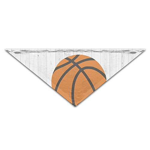 OLGCZM Wood Basketball Sports Clipart Pet Dog Cat Puppy Bandana Triangle Head Scarfs Accessories