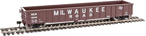 (Walthers HO Scale 53' Thrall Smooth-Side Gondola Milwaukee Road #92448)