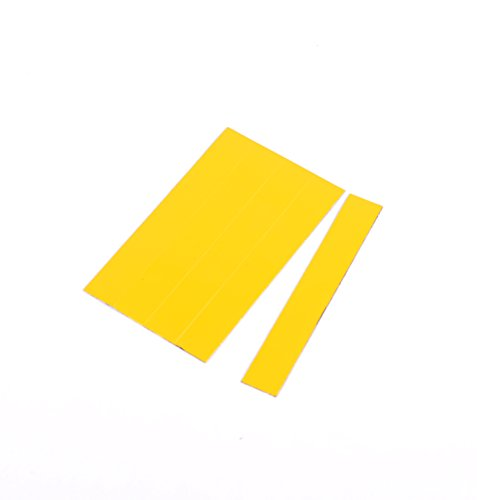 MasterVision FM2503 Magnetic Dry Erase Tape Strips, 7/8 x 6 Inches, Yellow, 25 Count