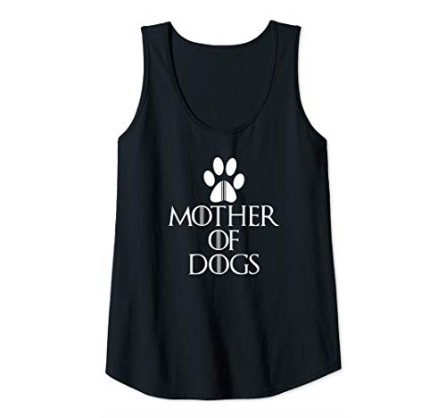Womens Funny Mom Mother of Dogs TShirts, Tops Gifts Novelty Graphic Tank Top