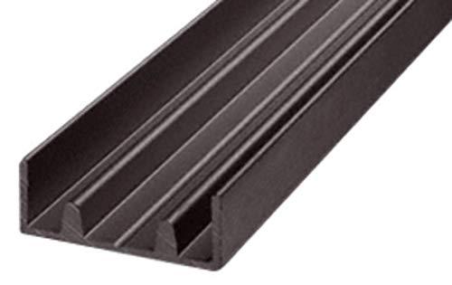 CRL Duranodic Bronze Aluminum Lower Double Channel - 12 ft long