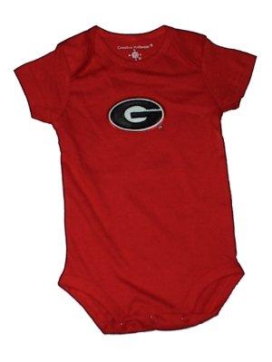 Creative Knitwear NCAA College Newborn Baby Creepers (6-9, Georgia Bulldogs)