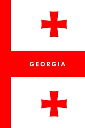 Georgia: Country Flag A5 Notebook (6 x 9 in) to write in with 120 pages White Paper Journal / Planner / Notepad
