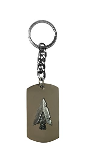 Hat Shark Arrowhead Pewter Emblem Logo Symbols - Key Ring Chain Metal