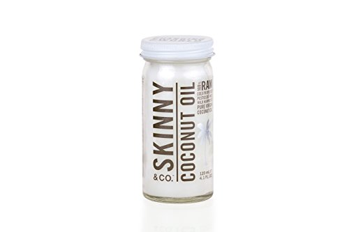 Skinny & Co. 100% Raw Virgin Skinny Coconut Oil for Skin and Hair (4.1 ounce travel size)