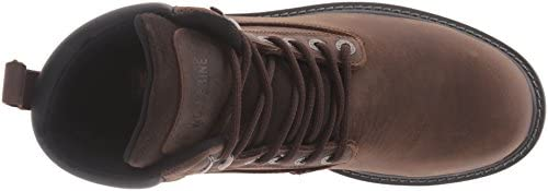 Wolverine Men\'s Floorhand 6 Inch Waterproof Soft Toe-M Work Boot, Dark Brown, 7.5 M US