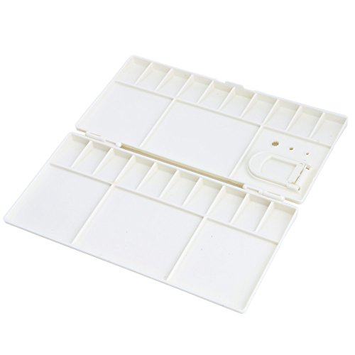 Kocome 25 Grids Large Art Paint Tray Artist Oil Watercolor Plastic Palette White by Kocome (Image #5)