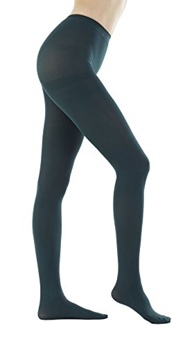(Women's 150 Denier Thick Footed Tights Pantyhose (Dark Green - 2Pair,)