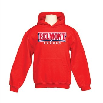 Belmont Youth Red Fleece Hoodie Soccer
