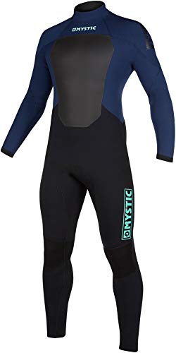 Mystic Watersports - Surf Kitesurf & Windsurfing Mens Star 5/3mm Back Zip Wetsuit - Navy - Thermal Warm Heat Layer Layers from Mystic