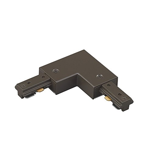 WAC Lighting HL-RIGHT-DB H Track Right L Connector, Dark Bronze Bronze Right Track