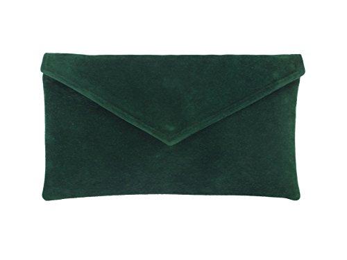 Loni Womens Neat Envelope Faux Suede Clutch Bag/Shoulder Bag by LONI