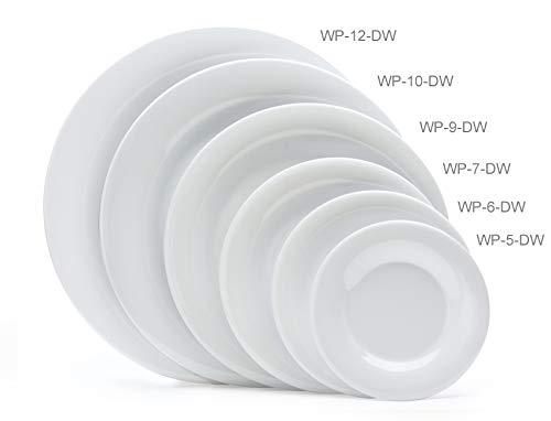 G.E.T. Enterprises WP-5-DW Diamond White 5.Wide Rim Plate Diamond White, Melamine (Pack of 12)