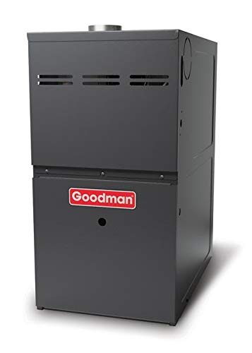 (Goodman GMVC81005CN 100,000 BTU Furnace, 80% Efficiency, 2-Stage Burner, 2,000 CFM Variable Speed Blower, Upflow/Horizontal Flow Application )